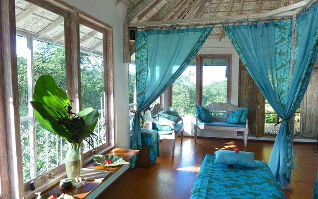 Eco-spa with forest views at Bali Ecovillage